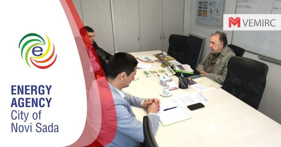Academician Veljko Milković visited the Energy Agency of the City of Novi Sad
