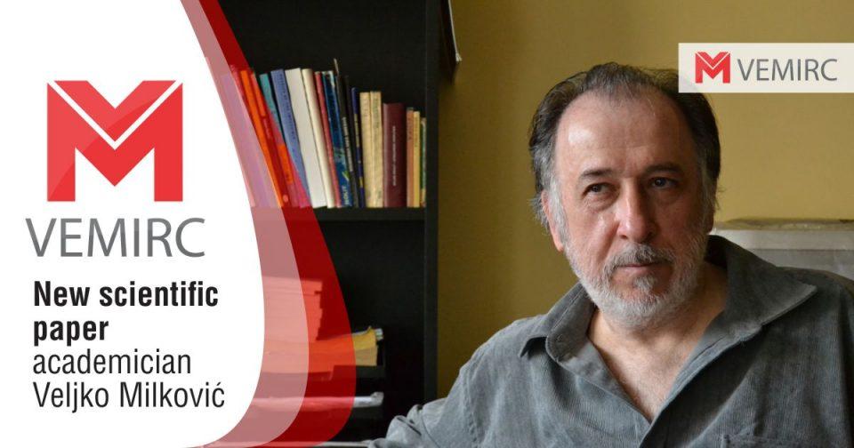 New scientific paper, academician Veljko Milković